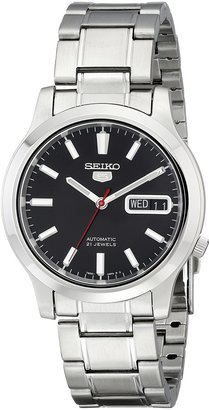 Seiko Men's SNK795 5 Automatic Stainless Steel Watch with Black Dial