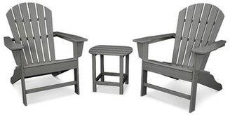 Polywood South Beach Adirondack 3-Piece Seating Group Frame Color: Slate Gray
