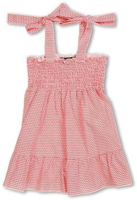 Fendi Girls' S/L Logo Summer Dress (Toddler/Little Kids) (Red) - Apparel