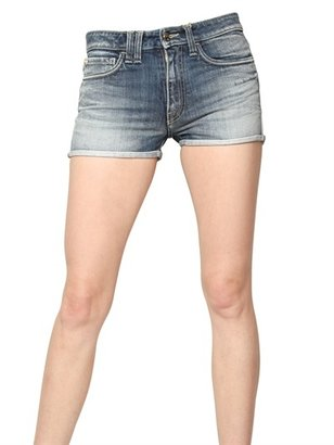 Cycle Japanese Denim Stretch Mini Shorts