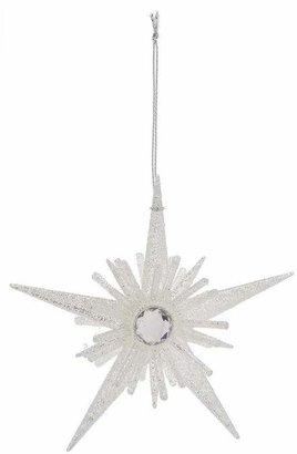 Unspecified Five Point Glitter Starburst Decoration