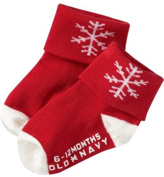 Old Navy Cuffed Holiday Socks for Baby