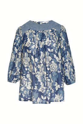 Gerard Darel Nathalie - Cotton And Silk Blouse With Lace