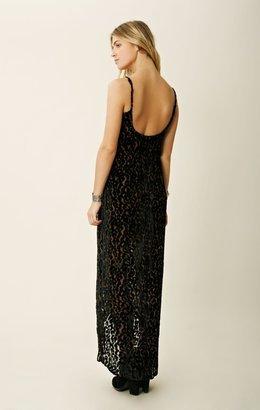 Blu Moon Velvet Burnout Tulip Dress