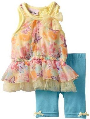 Little Lass Baby-girls Infant 2 Piece Butterfly Chiffon Skimmer Set