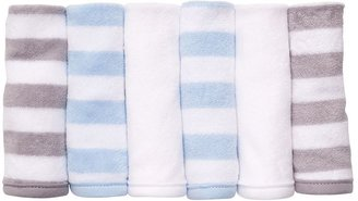 Carter's 6-pk. stripe & solid wash cloths