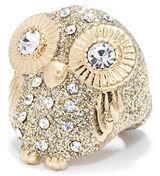 Rachel Roy Glitter Owl Ring