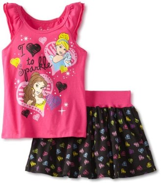 Disney Girls 2-6X Princess Sparkle Skooter Set