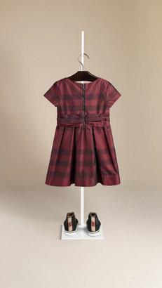 Burberry Bow Detail Check Dress