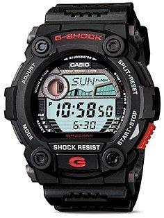 G-Shock Black Tide & Moon Graph Watch, 52.4mm