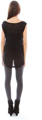 Lauren Moshi Nail Heart Brit Scoop Tank in Black