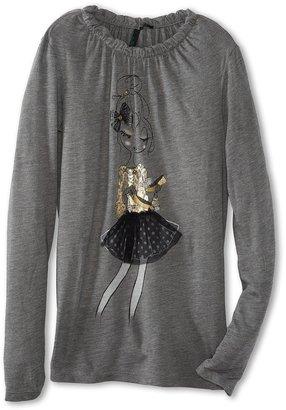 Benetton Kids - Girls' Fashion Tee (Little Kids/Big Kids) (Black) - Apparel