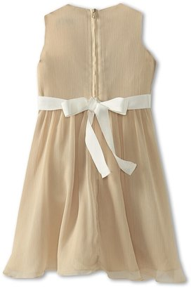 Us Angels Chiffon Tank Dress w/ Ivory Belt (Big Kids)