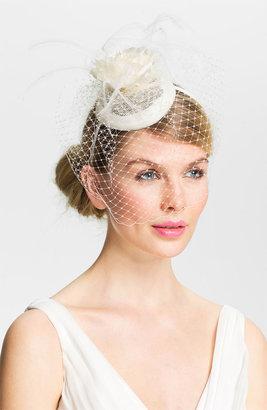 Lauren Ralph Lauren Linen Rosebud Fascinator Headband