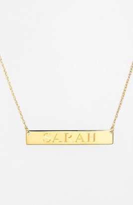 Women's Jane Basch Designs Personalized Bar Pendant Necklace $98 thestylecure.com