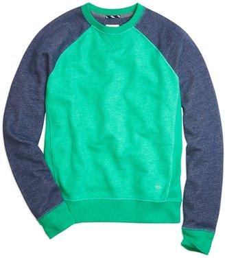 Brooks Brothers Color-Block Raglan Sweatshirt