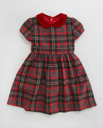 Busy Bees Anna Plaid Cap-Sleeve Dress