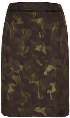Camo jacquard pencil skirt