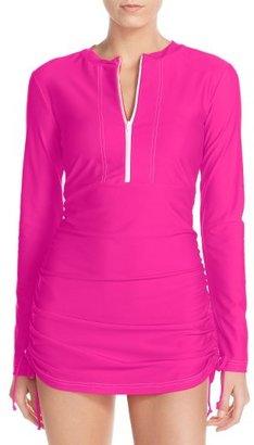 Women's Mott 50 'Sonja' Long Sleeve Half Zip Convertible Swimdress $118 thestylecure.com