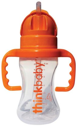 Thinkbaby THINKSTER Straw Bottle - Clear - 9 oz