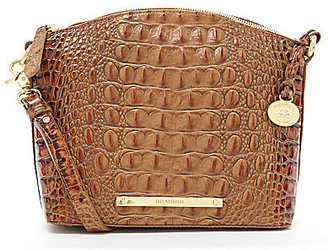 BRAHMIN Brahmin Toasted Almond Collection Mini Duxbury Crocodile-Embossed Cross-Body Bag $195 thestylecure.com