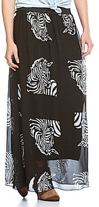 Catch My I Zebra Maxi Skirt