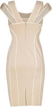 Donna Karan Blush Cold Shoulder Stretch Sheath Dress