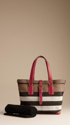 Burberry Check Canvas Baby Changing Bag