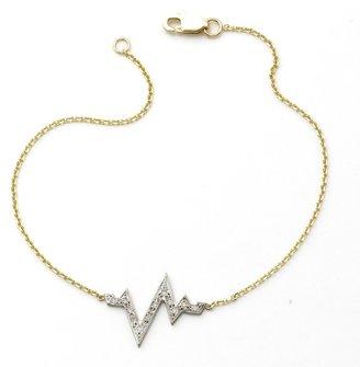 Sarah Chloe Diamond Heartbeat Bracelet