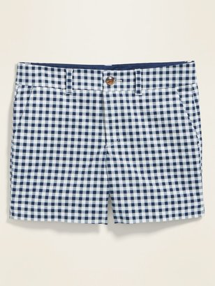 Old Navy Mid-Rise Everyday Patterned Twill Shorts for Women -- 5-inch inseam