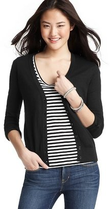 LOFT V-Neck Button Cuff Cardigan