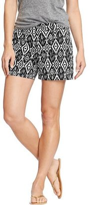 "Old Navy Women's Printed-Twill Shorts (5"")"