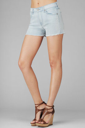 7 For All Mankind High Waist Cut Off Short In Cool Blue