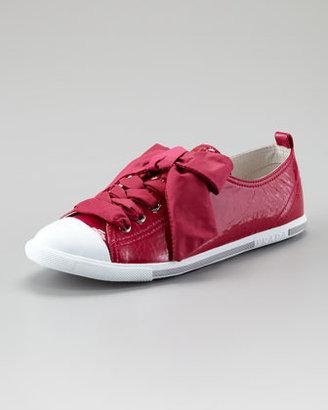 Prada Low-Top Patent Leather Sneaker, Magenta