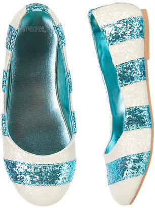 Gymboree Sparkle Glitter Striped Flats
