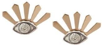 Pamela Love Silver Bronze Illuminas Earrings