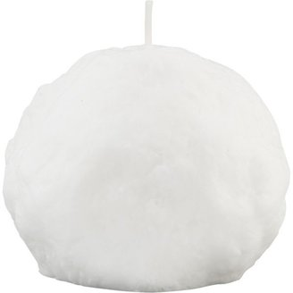 Crate & Barrel Small Snowball Candle