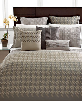 Hotel Collection CLOSEOUT! Bedding, Modern Houndstooth Twin Duvet Cover