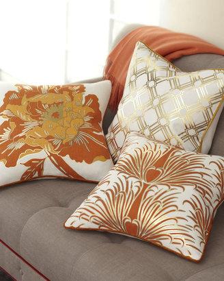 Horchow Antonio Aguilar Home Gold & Orange Pillow Collection