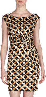 Julie Brown JB by Camie Watermill-Print Dress, Black/Multi