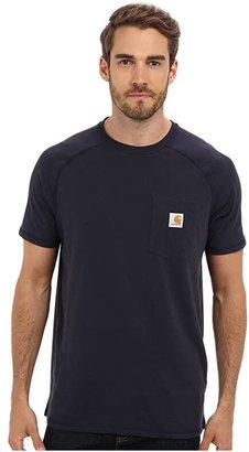 Carhartt Force(r) Cotton Delmont Short-Sleeve T-Shirt (Black) Men's Short Sleeve Pullover