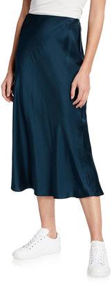 SABLYN Silk Satin Midi Skirt