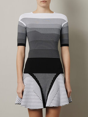 Ohne Titel Ombré stripe fitted sweater