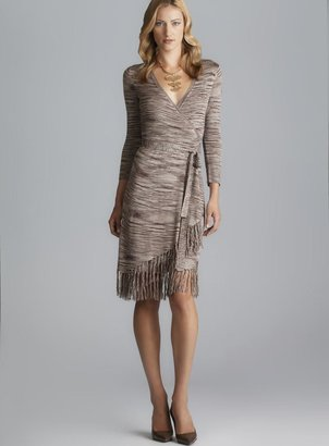 Max & Cleo Nikki Fringe Sweater Dress