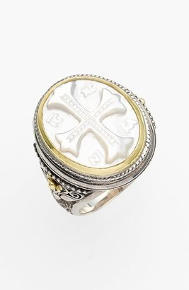 Women's Konstantino 'Athena' Mother Of Pearl Signet Ring $1,150 thestylecure.com