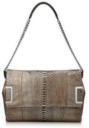 Jimmy Choo Ally Brushed Python Shoulder Bag