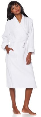 Cottage Collection Waffle Weave 100% Cotton Robe with Eyelet Trim - 2X
