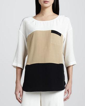 Go Silk Colorblock Silk Tunic, Women's