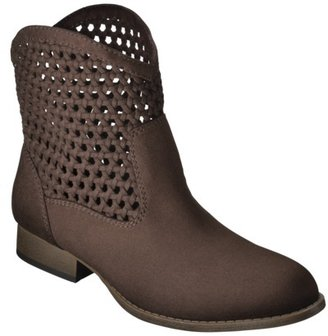 Mossimo Women's Katelyn Woven Top Ankle Boot - Brown