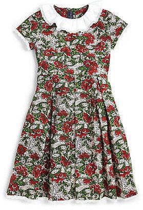 Oscar de la Renta Toddler's & Little Girl's Big Flower Party Dress